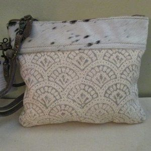 Myra Bag Livid Pouch  Crossbody White Fur